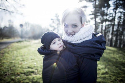 Angel Wings Winter Coat Anthracite-Babywearing Outerwear-Angel Wings- Little Zen One US Babywearing baby carriers