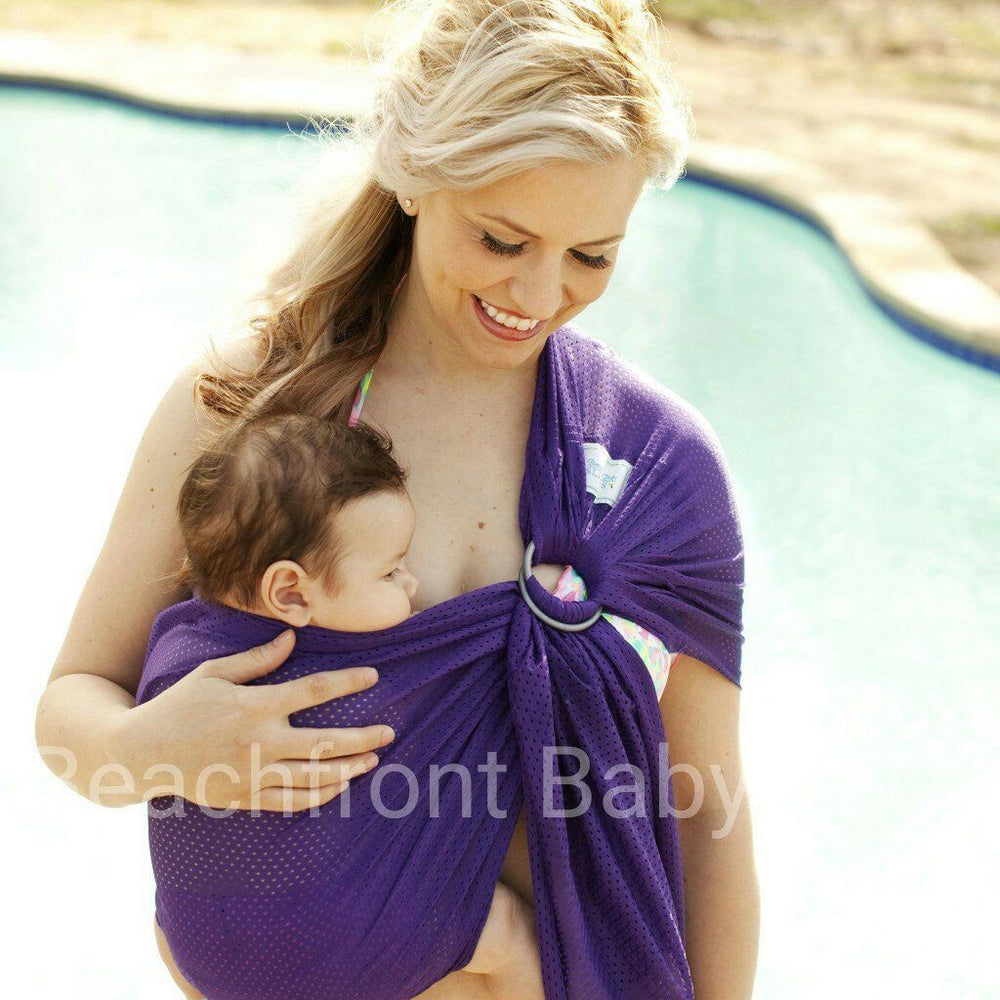 Beachfront Baby Water Ring Sling Paradise Plum-Water Carrier-Beachfront Baby- Little Zen One US Babywearing baby carriers