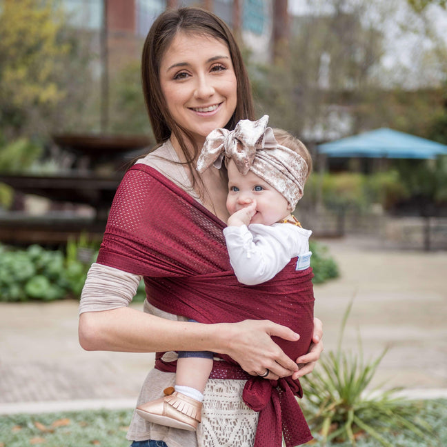 Beachfront Baby Water Wrap Sparkling Sangria (Dark Red)-Water Carrier-Beachfront Baby- Little Zen One US Babywearing baby carriers