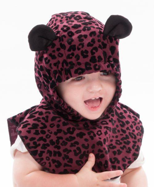 Belly Bedaine Baby Hood Leopard rose-Babywearing Accessories-Belly Bedaine- Little Zen One US Babywearing baby carriers