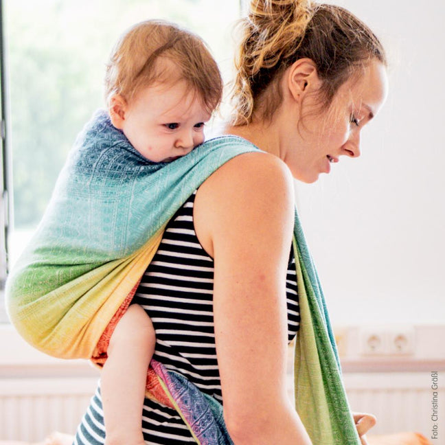 Didymos Baby Prima Rainbow Tri-blend-Woven Wrap-Didymos- Little Zen One US Babywearing baby carriers