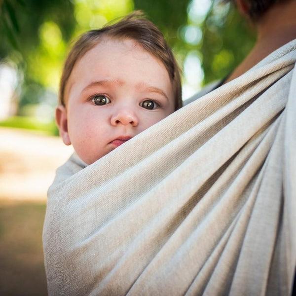 Didymos Baby Woven Doubleface Nature linen-Woven Wrap-Didymos- Little Zen One US Babywearing baby carriers