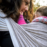 Didymos Baby Woven Doubleface Stone linen-Woven Wrap-Didymos- Little Zen One US Babywearing baby carriers