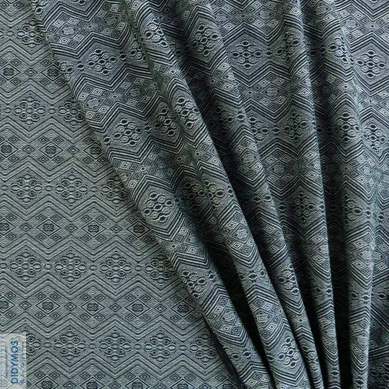 Didymos Baby Woven Wrap 1975 Anthracite Tussah silk-Woven Wrap-Didymos- Little Zen One US Babywearing baby carriers