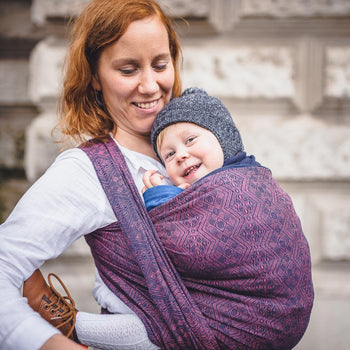 Didymos Baby Woven Wrap 1975 Blue Tango Merino Silk-Woven Wrap-Didymos- Little Zen One US Babywearing baby carriers