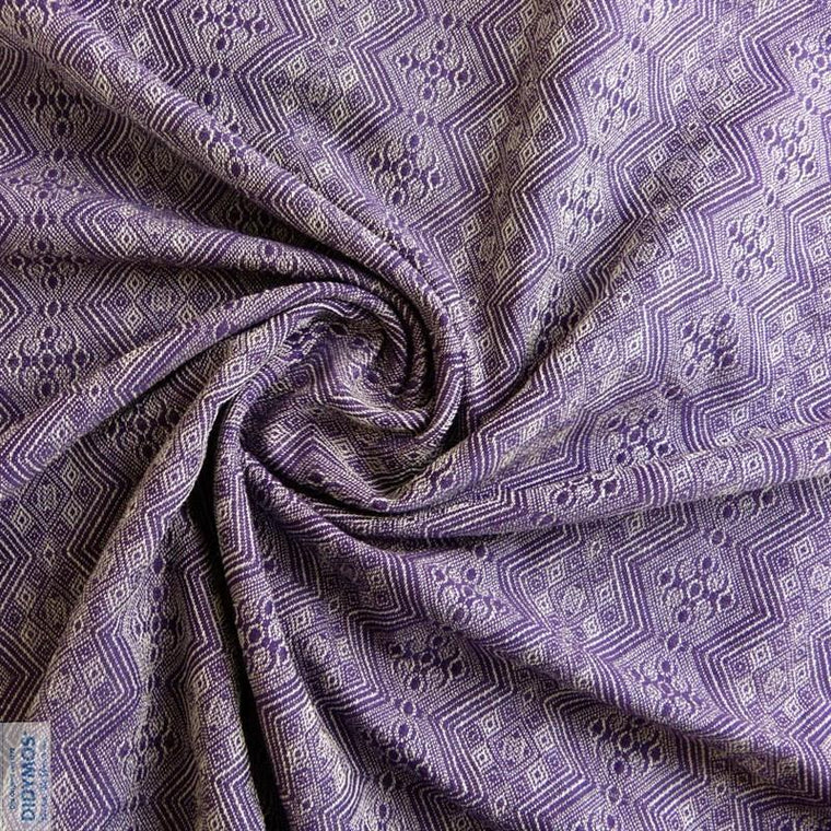 Didymos Baby Woven Wrap 1975 Viola tussah cashmere-Woven Wrap-Didymos- Little Zen One US Babywearing baby carriers