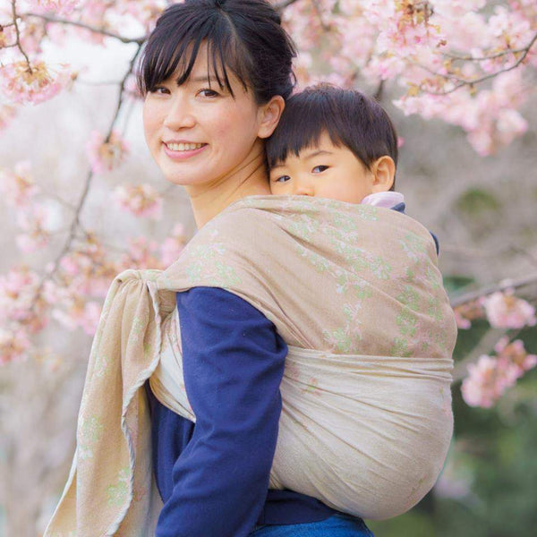 Didymos Baby Woven Wrap Cherry Blossom Yumemi silk-Woven Wrap-Didymos- Little Zen One US Babywearing baby carriers