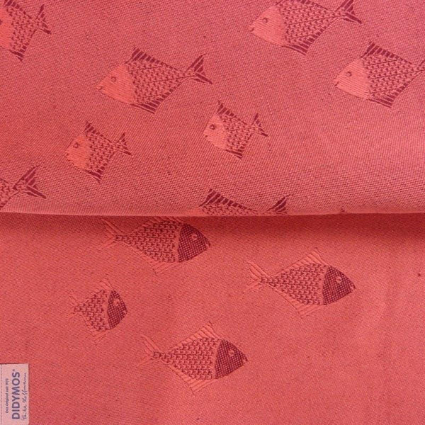 Didymos Baby Woven Wrap Fish Coral linen-Woven Wrap-Didymos- Little Zen One US Babywearing baby carriers