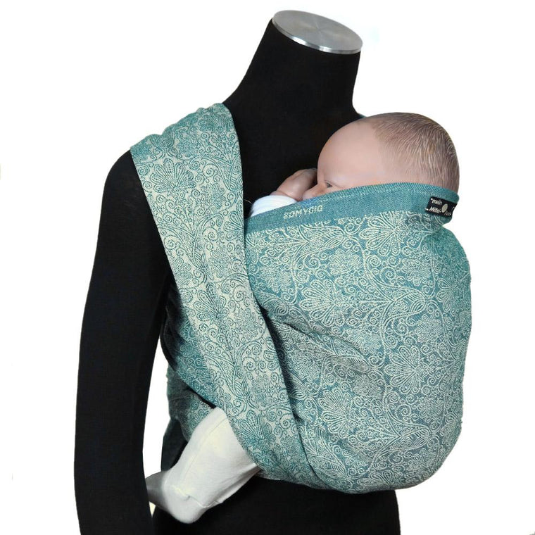 Didymos Baby Woven Wrap Floris Teal-Woven Wrap-Didymos- Little Zen One US Babywearing baby carriers