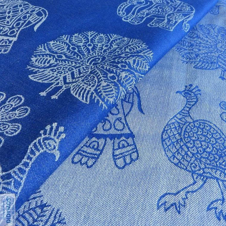 Didymos Baby Woven Wrap India Azur tussah-Woven Wrap-Didymos- Little Zen One US Babywearing baby carriers