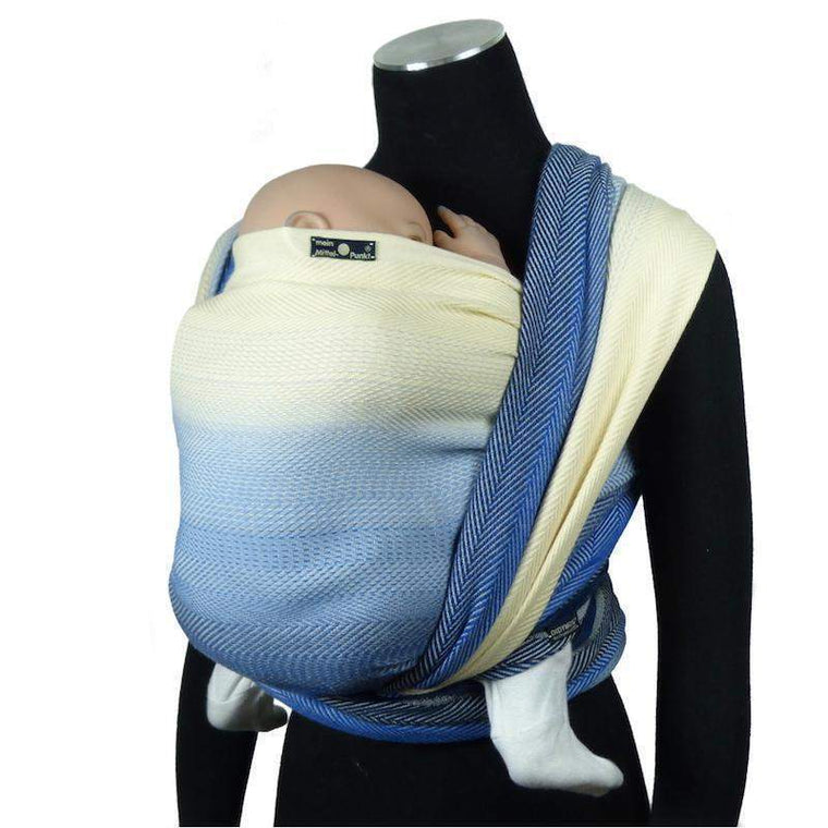 Didymos Baby Woven Wrap Lisca Arctic Blue wool-Woven Wrap-Didymos- Little Zen One US Babywearing baby carriers