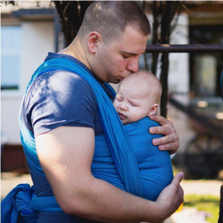 Didymos Baby Woven Wrap Lisca Azzuro-Woven Wrap-Didymos- Little Zen One US Babywearing baby carriers