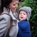 Didymos Baby Woven Wrap Lisca Dark blue-Woven Wrap-Didymos- Little Zen One US Babywearing baby carriers