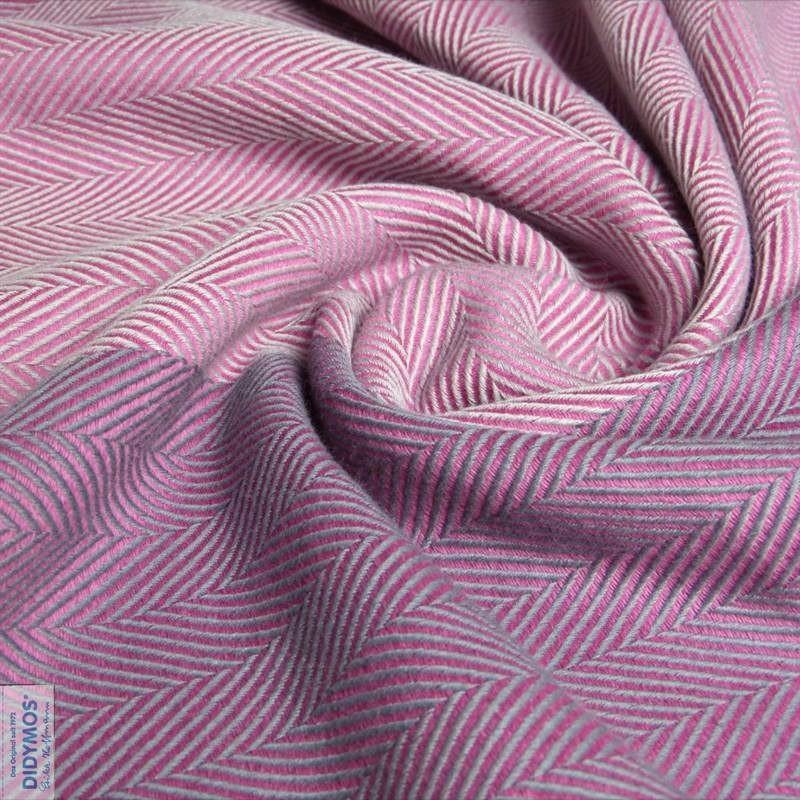 Didymos Baby Woven Wrap Lisca Flamingo wool-Woven Wrap-Didymos- Little Zen One US Babywearing baby carriers