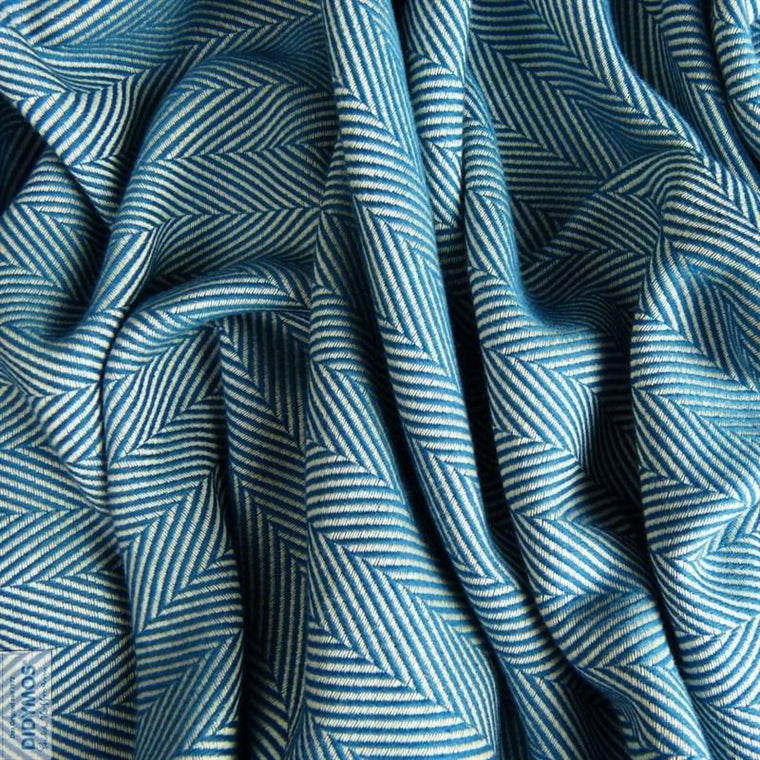 Didymos Baby Woven Wrap Lisca Petrol-Woven Wrap-Didymos- Little Zen One US Babywearing baby carriers