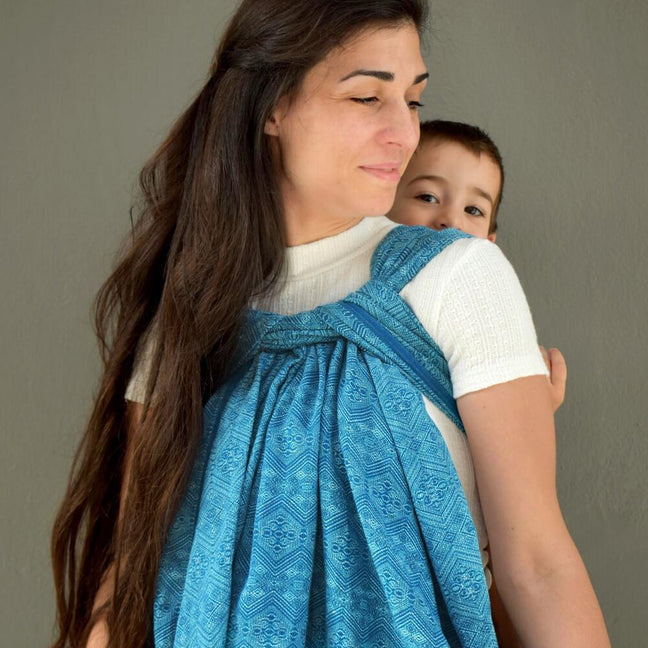 Didymos Baby Woven Wrap Mystic Petrol 1975-Woven Wrap-Didymos- Little Zen One US Babywearing baby carriers