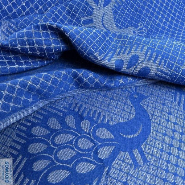 Didymos Baby Woven Wrap Peacock Pfau Blue linen-Woven Wrap-Didymos- Little Zen One US Babywearing baby carriers