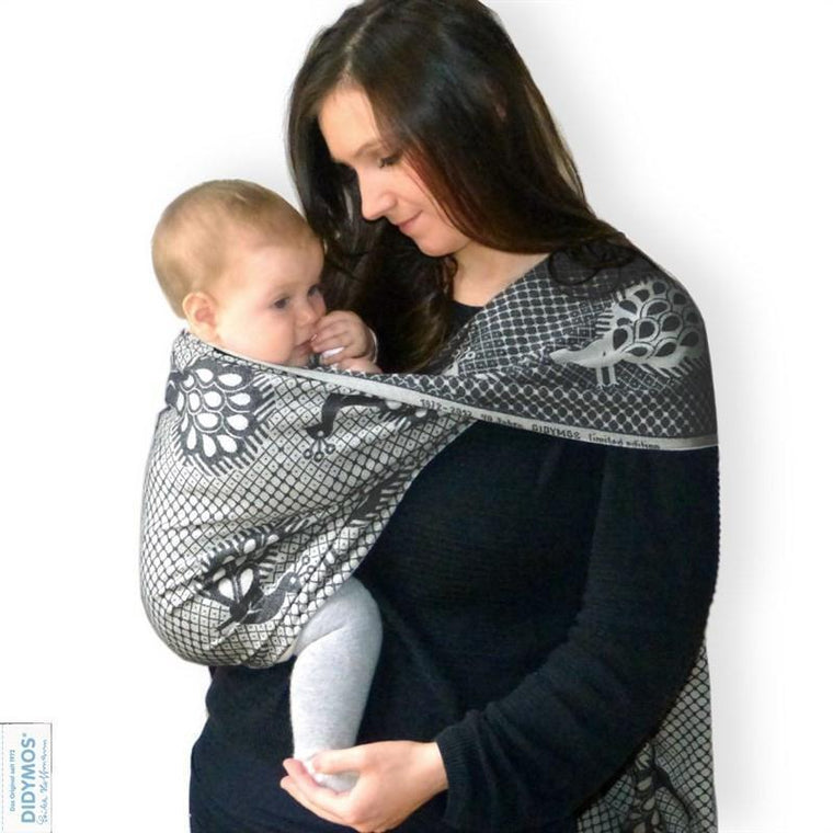 Didymos Baby Woven Wrap Pfau Marrone Cashmere-Woven Wrap-Didymos- Little Zen One US Babywearing baby carriers