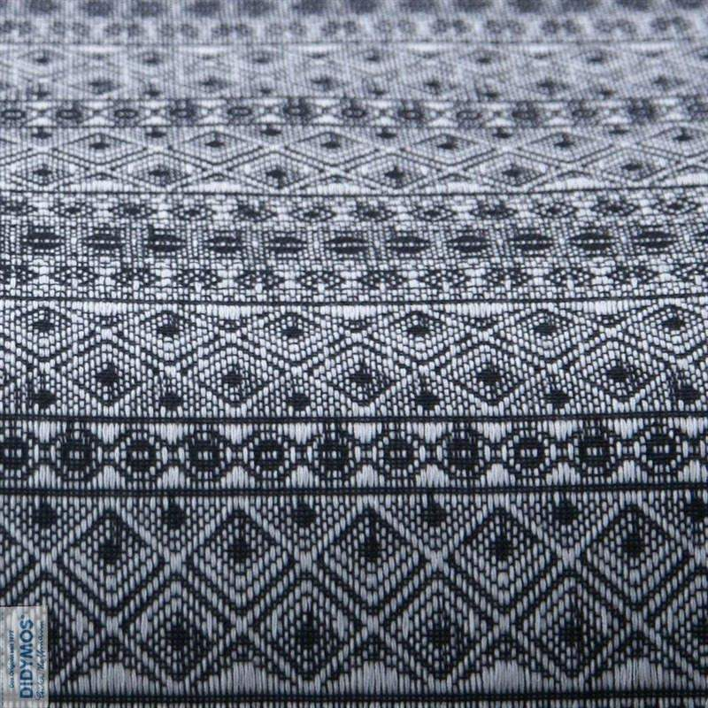 Didymos Baby Woven Wrap Prima Black and White-Woven Wrap-Didymos- Little Zen One US Babywearing baby carriers