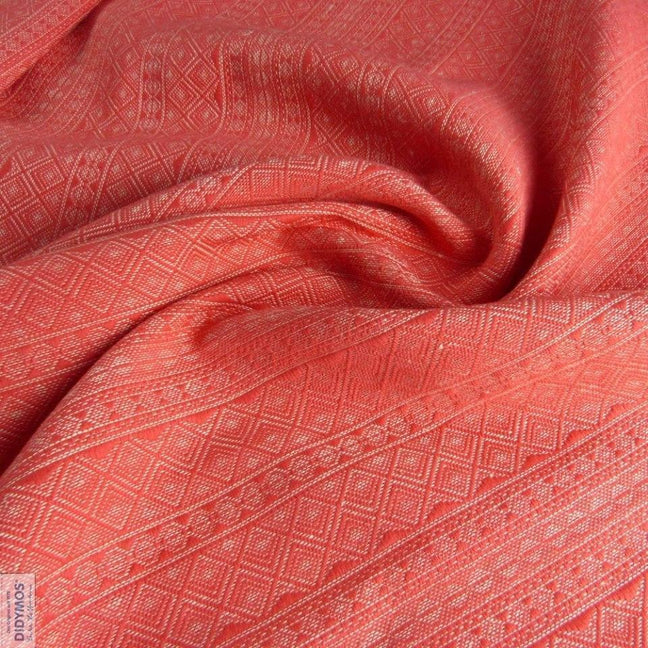 Didymos Baby Woven Wrap Prima Corallina hemp-Woven Wrap-Didymos- Little Zen One US Babywearing baby carriers