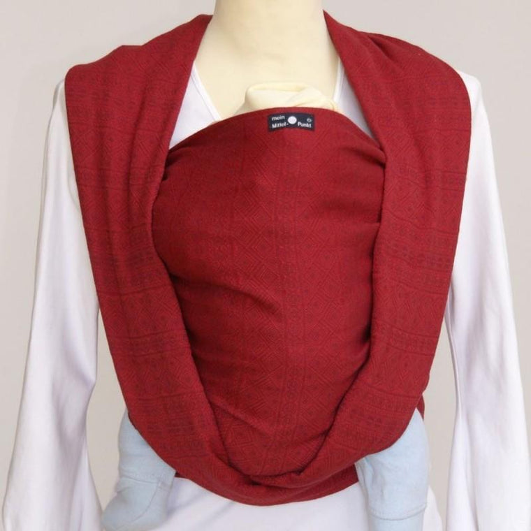 Didymos Baby Woven Wrap Prima Ruby Red-Woven Wrap-Didymos- Little Zen One US Babywearing baby carriers
