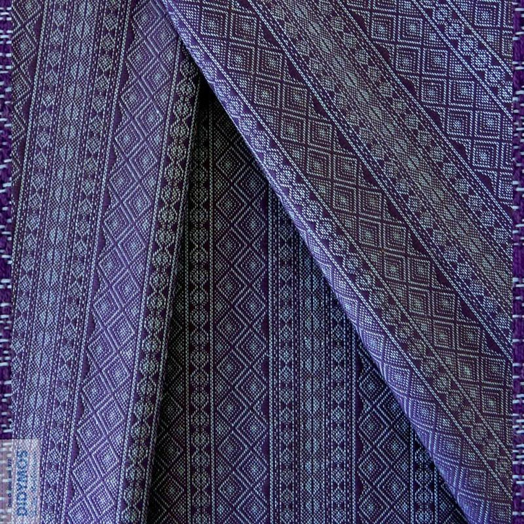 Didymos Baby Woven Wrap Prima Viola Azzuro linen-Woven Wrap-Didymos- Little Zen One US Babywearing baby carriers