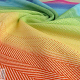 Didymos Baby Woven Wrap Rainbow Lisca White-Woven Wrap-Didymos- Little Zen One US Babywearing baby carriers