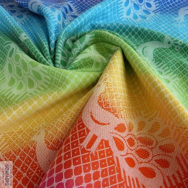 Didymos Baby Woven Wrap Rainbow Pfau-Woven Wrap-Didymos- Little Zen One US Babywearing baby carriers