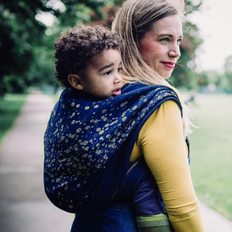 Didymos Baby Woven Wrap Sparkle Gold linen-Woven Wrap-Didymos- Little Zen One US Babywearing baby carriers