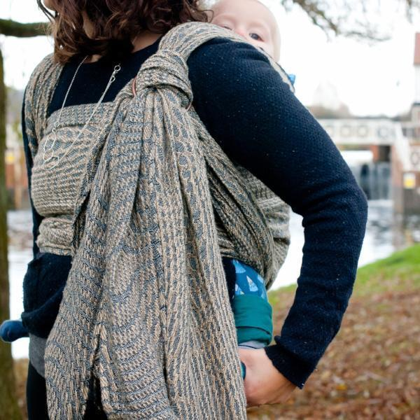 Didymos Baby Woven Wrap Tranquility linen-Woven Wrap-Didymos- Little Zen One US Babywearing baby carriers