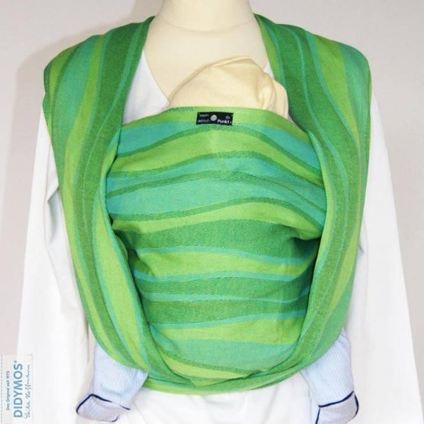 Didymos Baby Woven Wrap Waves Lime-Woven Wrap-Didymos- Little Zen One US Babywearing baby carriers