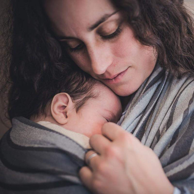 Didymos Baby Woven Wrap Waves Silver-Woven Wrap-Didymos- Little Zen One US Babywearing baby carriers