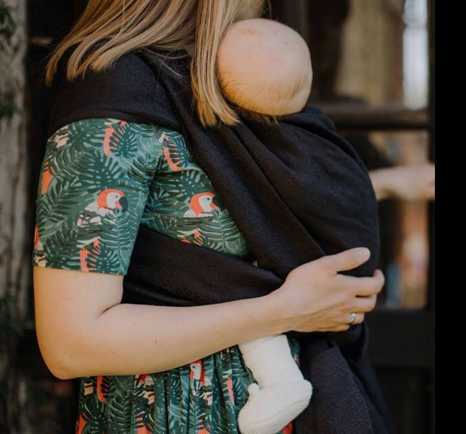 Didymos Baby Wrap Sling Grande Carbon Merino-Woven Wrap-Didymos- Little Zen One US Babywearing baby carriers