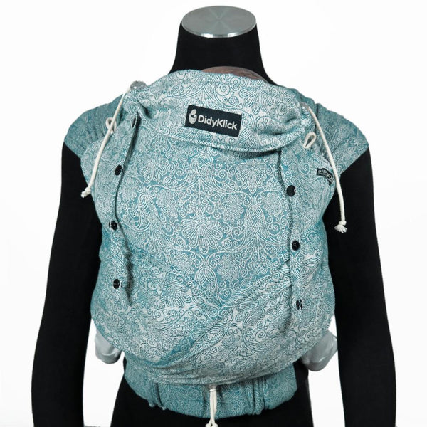 Didymos DidyKlick Floris Teal-Half Buckle Baby Carrier-Didymos- Little Zen One US Babywearing baby carriers