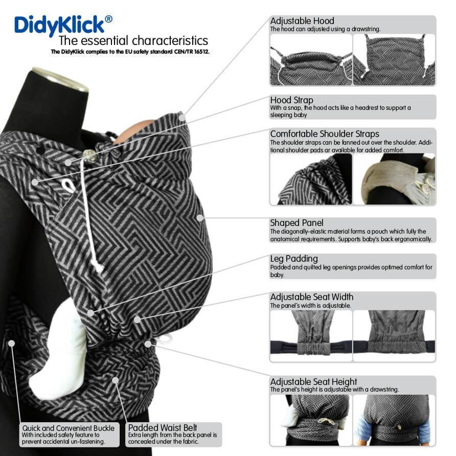 Didymos DidyKlick Kanga Cool Water-Half Buckle Baby Carrier-Didymos- Little Zen One US Babywearing baby carriers