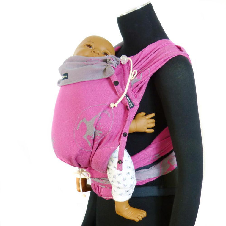 Didymos DidyKlick Kanga Pink-Half Buckle Baby Carrier-Didymos- Little Zen One US Babywearing baby carriers