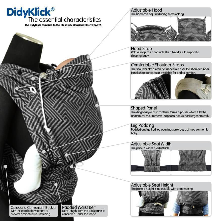 Didymos DidyKlick Ocean-Half Buckle Baby Carrier-Didymos- Little Zen One US Babywearing baby carriers