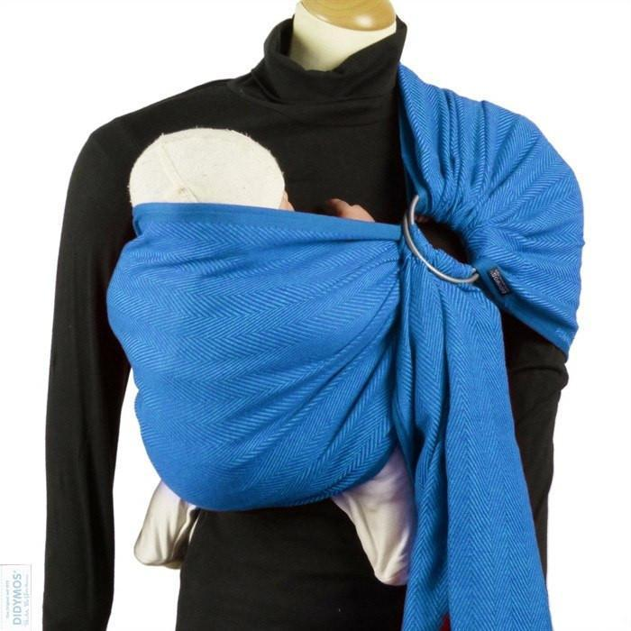 Didymos DidySling Lisca Azzurro-Ring Slings-Didymos- Little Zen One US Babywearing baby carriers