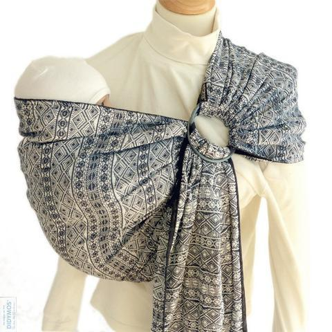 Didymos DidySling Prima Dark Blue and White-Ring Slings-Didymos- Little Zen One US Babywearing baby carriers