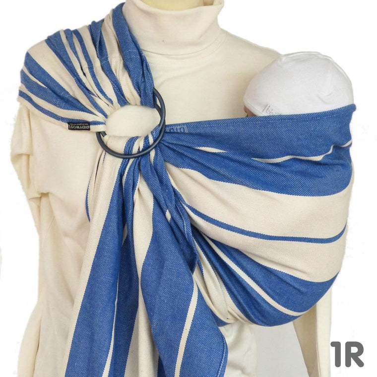Didymos DidySling Stripes Standard Blue-Ring Slings-Didymos- Little Zen One US Babywearing baby carriers