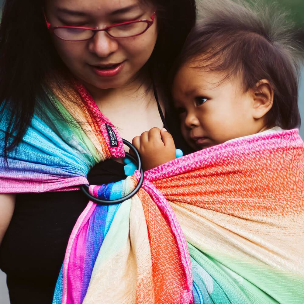 Didymos DidySling Triple Rainbow-Ring Slings-Didymos- Little Zen One US Babywearing baby carriers