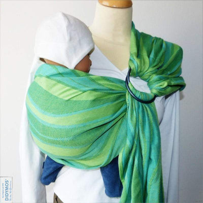 Didymos DidySling Waves Lime-Ring Slings-Didymos- Little Zen One US Babywearing baby carriers
