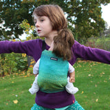 Didymos Doll Snap Hearts Malachite-Babywearing Accessories-Didymos- Little Zen One US Babywearing baby carriers