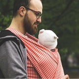 Didymos Doubleface Hybrid Jersey wrap Stripes Papaya-Hybrid Wrap-Didymos- Little Zen One US Babywearing baby carriers