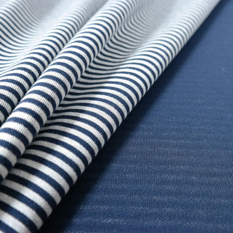Didymos Jersey Doubleface Stripes Navy Blue-Hybrid Wrap-Didymos- Little Zen One US Babywearing baby carriers