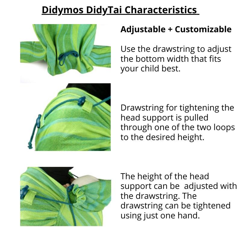 DIdymos Meh Dai DidyTai Lisca White Rainbow-Meh Dais-Didymos- Little Zen One US Babywearing baby carriers