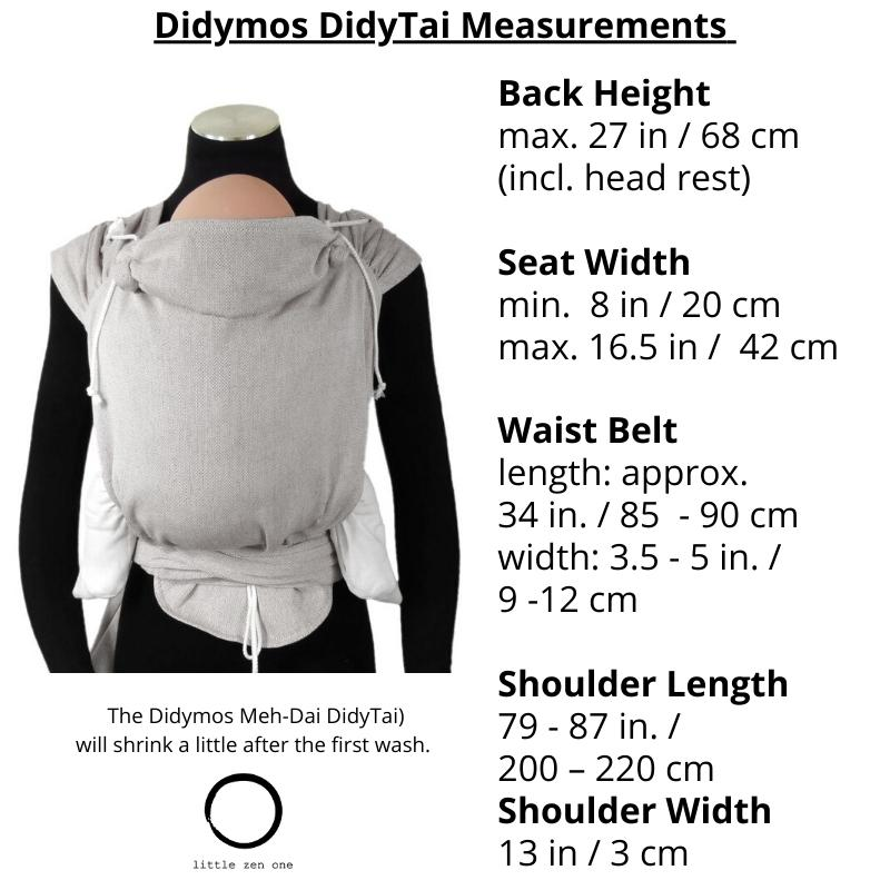 Didymos Meh Dai DidyTai Stripes Turquoise-Meh Dais-Didymos- Little Zen One US Babywearing baby carriers