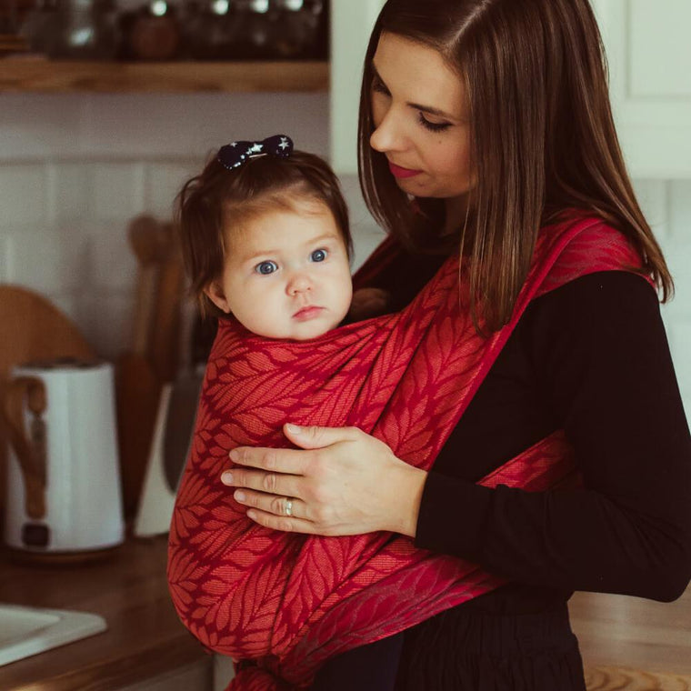 Didymos Woven Baby Wrap Sling Amaranth-Woven Wrap-Little Zen One- Little Zen One US Babywearing baby carriers