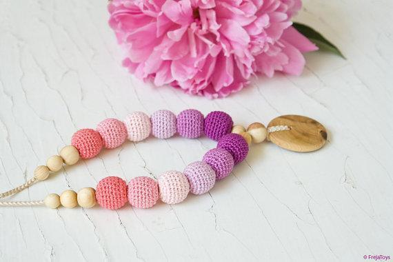 FrejaToys Berry Pretty Nursing Necklace-Babywearing Accessories-FrejaToys- Little Zen One US Babywearing baby carriers