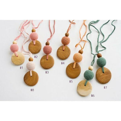FrejaToys Natural Silk and Wood Necklaces Forest-Babywearing Accessories-FrejaToys- Little Zen One US Babywearing baby carriers